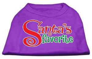 Santas Favorite Screen Print Pet Shirt Purple XL (16)